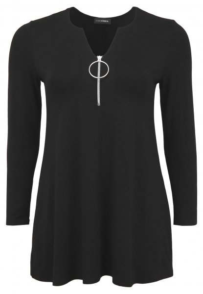 DORIS STREICH Doris Streich Long-Shirt mit Reißverschluss 10374374