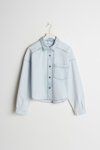 GINA TRICOT Cropped Denim Overshirt 10616703
