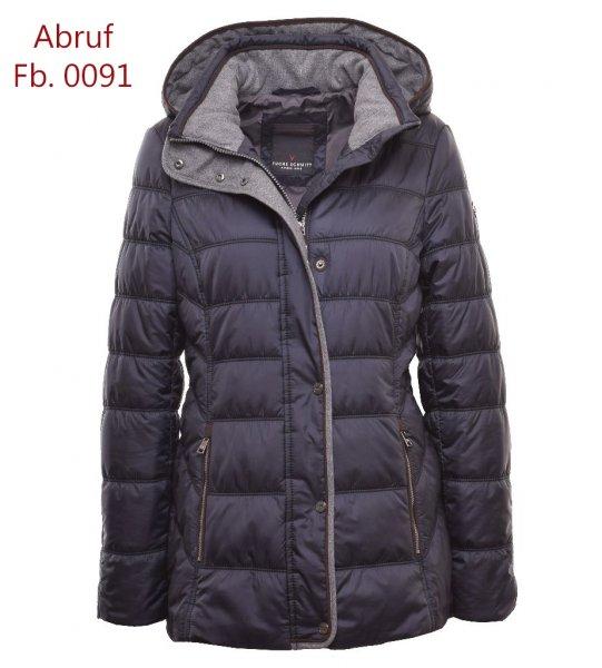 FUCHS SCHMITT Jacke gesteppt mit Flanellkontrast und Lederpaspeln 10633599