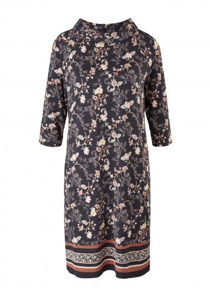 S.OLIVER BLACK LABEL Jerseykleid mit floralem Muster 10640111