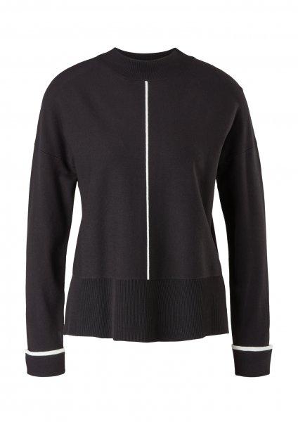S.OLIVER BLACK LABEL Pullover mit Kontrast-Details 10640102