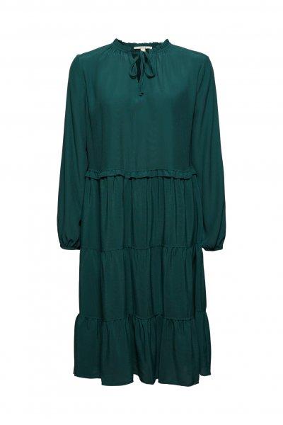 ESPRIT CASUAL Kleid mit Rüschen und Volants 10636219
