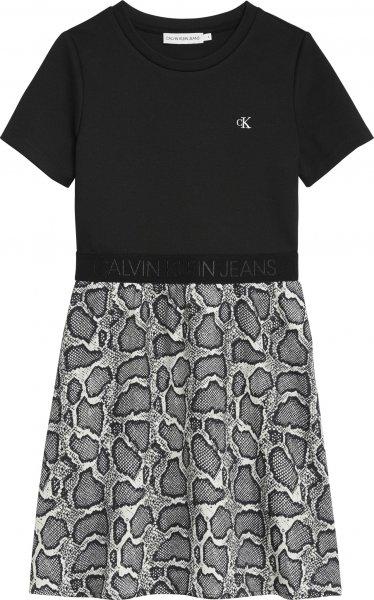CALVIN KLEIN Skaterkleid aus Material-Mix 10617746