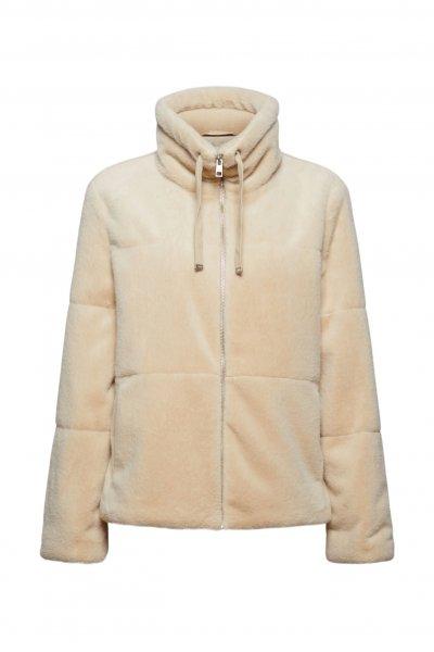 ESPRIT CASUAL Jacke aus weichem Webfell mit Stehkragen 10628190
