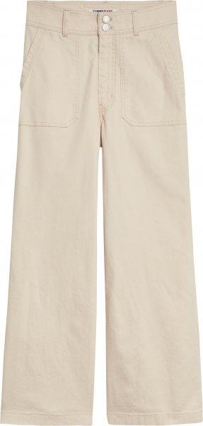 TOMMY JEANS Straight Hose mit hohem Bund und Tommy Badge 10618712