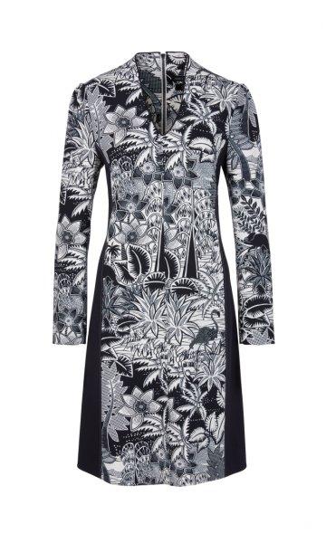 MARC CAIN Bedrucktes Kleid aus Scuba-Jersey 10589500