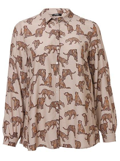 FRAPP Bluse mit exotischem Muster 10629329