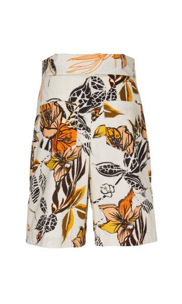 MARC CAIN Florale Shorts mit Bundfalten 10605774