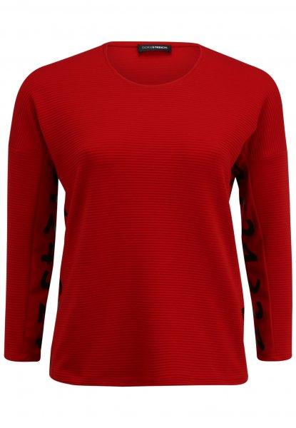 DORIS STREICH Doris Streich Shirt-Pulli mit Zahlen-Print unter dem Arm. 10637731