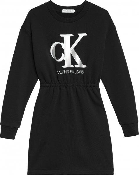 CALVIN KLEIN Logo Sweatshirtkleid aus Bio-Baumwolle 10617734