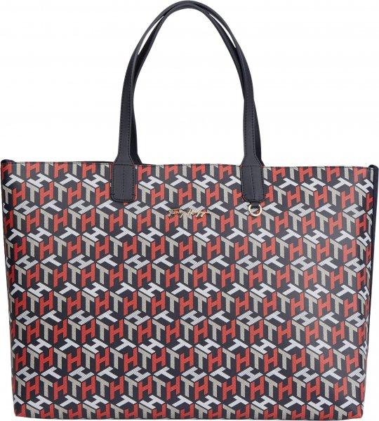 TOMMY HILFIGER Iconic Tote-Bag mit Monogram-Print 10618242