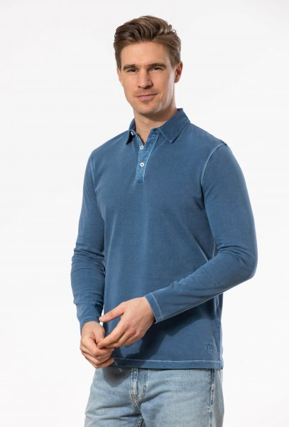 MARC O´POLO Langarm-Poloshirt 10586700