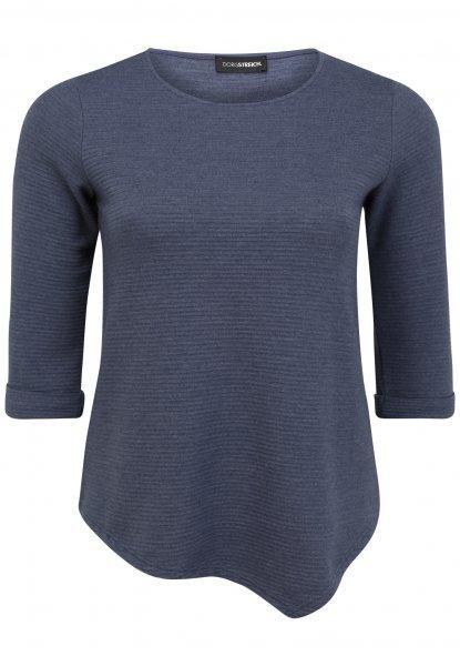 DORIS STREICH Doris Streich Shirt-Pulli 3/4-Arm mit Ärmelaufschlag und Rundhals 10637757