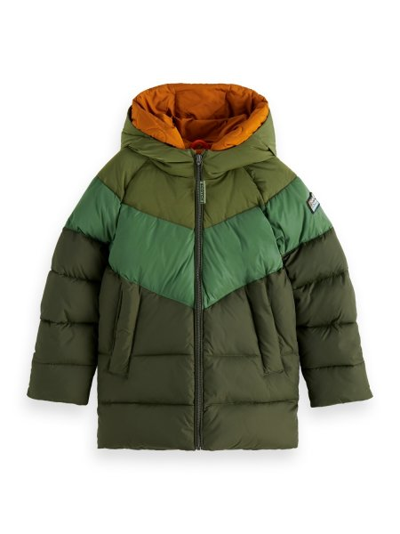 SCOTCH & SODA Militärgrüne Jacke mit doppelter Kapuze 10626363