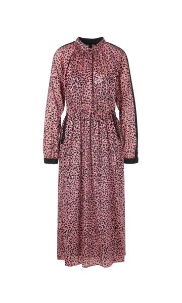 MARC CAIN Devoré-Kleid mit Leo-Print 10622418