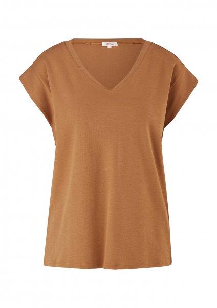 S.OLIVER Jerseyshirt mit V-Ausschnitt 10639913