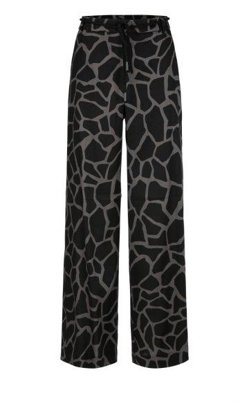 MARC CAIN Leinenmix-Hose mit Giraffen-Print 10605768