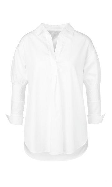 MARC CAIN Feminine Bluse mit Smokdetails 10589498