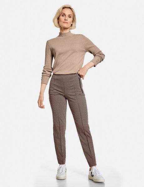 GERRY WEBER COLLECTION Schlank geschnittene Hose mit Minimalkaro von GERRY WEBER 10633225