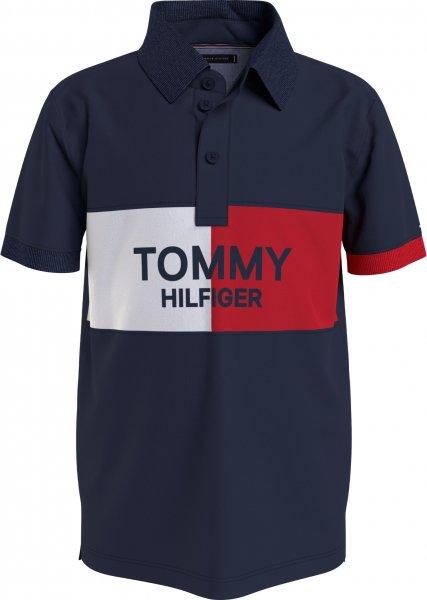 TOMMY HILFIGER Jungen Colorblock Logo-Shirt 10617422