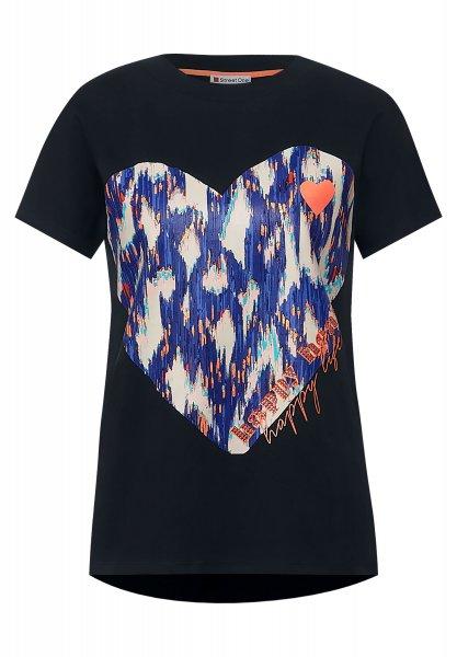 STREET ONE Shirt mit Ikat Frontprint 10618157