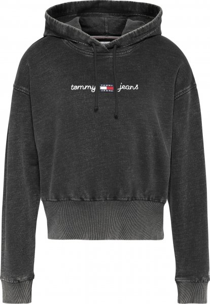 TOMMY JEANS Cropped Fit Acid Wash Hoodie mit Tommy Badge 10618721
