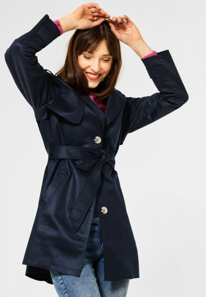 STREET ONE Trench Coat in Fake Velours 10612900