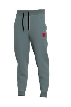 HUGO Jogginghose aus Baumwoll-Terry mit rotem Logo-Etikett 10627151