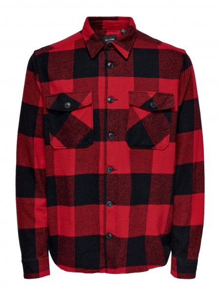 ONLY & SONS KARIERTES OVERSHIRT 10627273