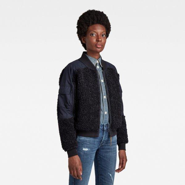 G-STAR Teddy Bomber Zip Through Sweatshirt 10636409