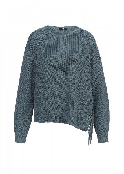 RIANI Organic-Cotton Pullover mit Fransen-Detail 10622217