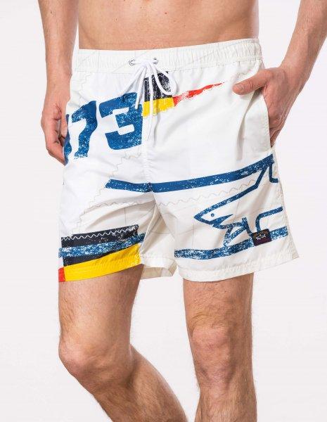 PAUL & SHARK Badeshort multicolor 10601863