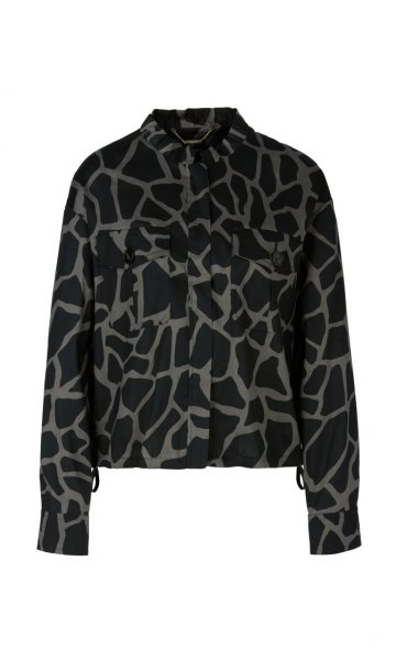 MARC CAIN Bedruckte Jacke aus Leinenmix 10605765
