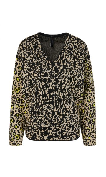 MARC CAIN Leo-Jacquardpullover Knitted in Germany 10589518