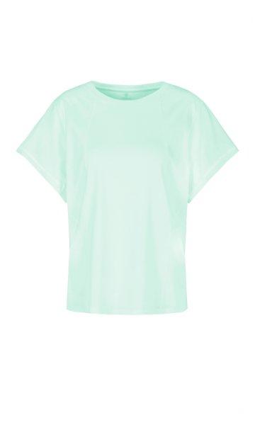 MARC CAIN Baumwollshirt mit Materialmix 10605749