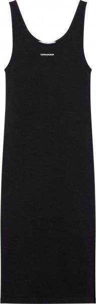 CALVIN KLEIN JEANS MICRO BRANDING STRAPPY RIB DRESS 10603120