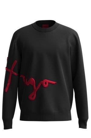 HUGO Sweatshirt aus Bio-Baumwolle mit handgeschriebener Logo-Stickerei 10627078