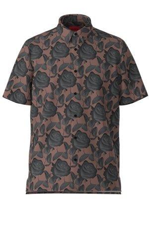 HUGO Relaxed-Fit Hemd aus Baumwoll-Canvas mit Rosen-Print 10618086