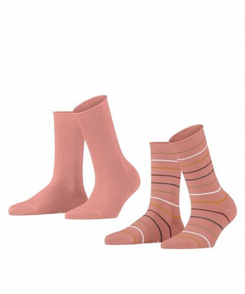 ESPRIT Multi Stripe 2-Pack Damen Socken 10623453