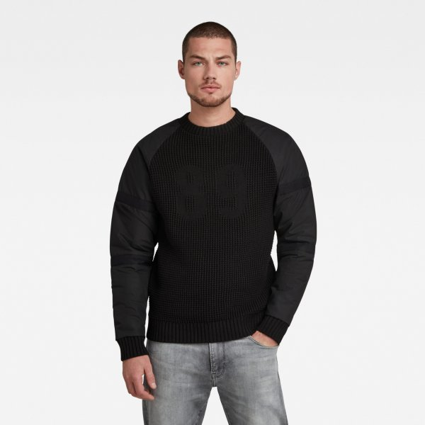 G-STAR Woven Mix Knitted Pullover 10636379