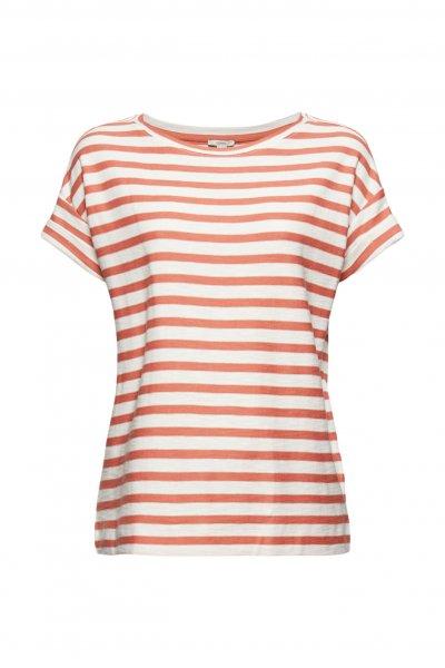 ESPRIT CASUAL Gestreiftes T-Shirt aus 100% Organic Cotton 10627243