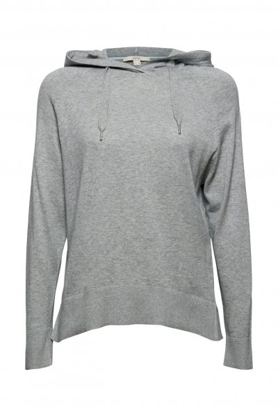 ESPRIT CASUAL Pullover in Hoodie-Optik aus Pima-Baumwolle 10628142