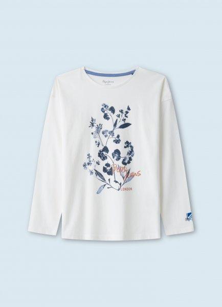 PEPE Longsleeve mit Blumenaufdruck 10625918