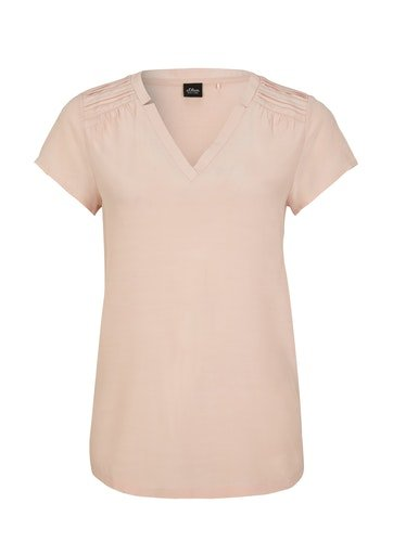 S.OLIVER BLACK LABEL Materialmix-Shirt 10625137
