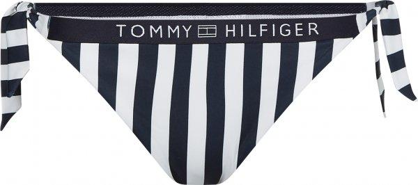 TOMMY HILFIGER Cheeky gestreifte Bikini-Hose mit Bindebändern 10601483